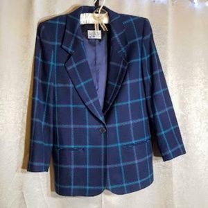 Pendleton Vintage Tartan Blazer sz 10 Virgin Wool